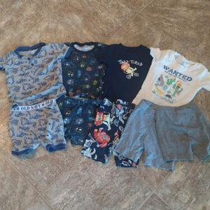 Boys PJ Short Sleeve/Shorts Sets Lot 18-24M